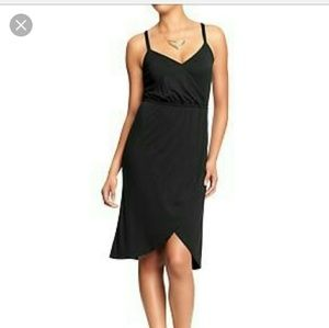 Old navy black faux wrap dress xs
